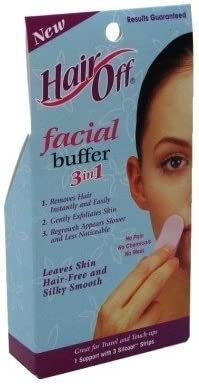 Hair Off Facial Buffer 3-In-1 (2 Pack) by Hair Off: Amazon.es: Belleza