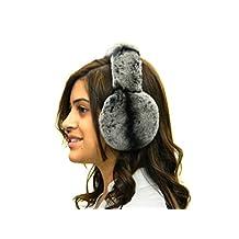 FursNewYork Rex Chinchilla Ear Muffs w/Fur on Band