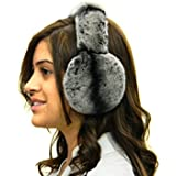 Rex Chinchilla Ear Muffs w/Fur on Band
