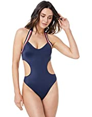 Tommy Hilfiger Women's Signature Cutout Swimsuit