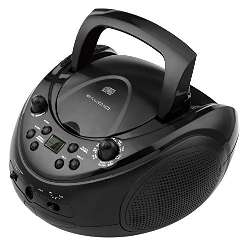 sAudio Portable CD Boombox, CD Player with AM FM Radio and Line-in Jack by SAUDIO (Image #2)