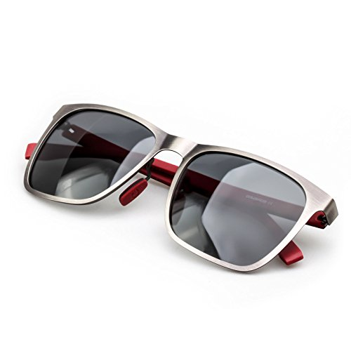 Colossein Polarized Sunglasses For Men Metal Frame Carbon Fibre Arm Light Weight Reliable Fashion Glasses