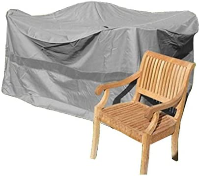 Formosa Covers Premium Tight Weave Bar High Dining Set Cover 98 Dia. x 41 H, Fully Covered top NO Umbrella Center Hole in Grey
