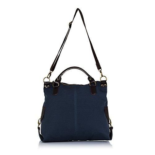 IN GRANDE 40x37x14 Color Bolso ARTEGIANI cuero y mujer premium PU TOTE Asa bandolera Azul lona bag sintétiQSxECJnyJiMADE Bolso ITALY Shopping FIRENZE cm en AZUL HT4nFqn