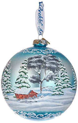 """G. Debrekht Limited Edition Winter Lighthouse Glass Ornament, 5.5""""/X-Large"""