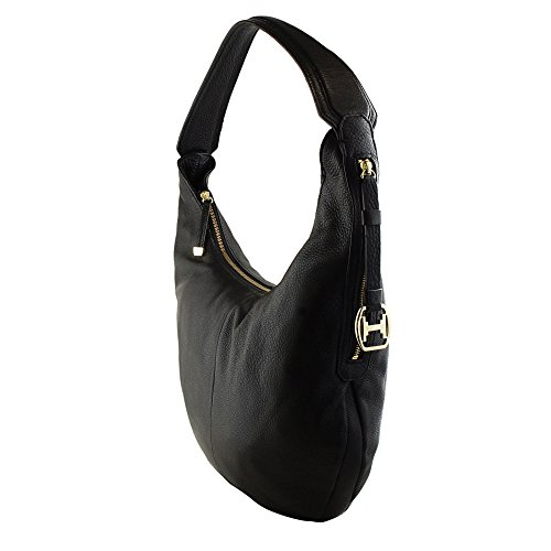 Shoulder Leather Black Hobo Slouchy Halston CX2006L1 Bag Heritage qAwIP7