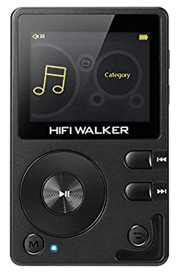 Prime Deals, HIFI WALKER H2 High Resolution Lossless Bluetooth FLAC WAV Digital Audio Player Portable with 16GB microsd card and HD audio earphone by HIFI WALKER