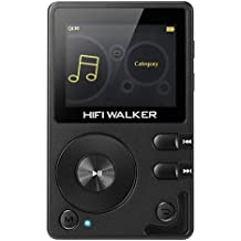 HIFI WALKER H2 High Resolution Lossless Bluetooth FLAC WAV Digital Audio Player Portable with 16GB microsd card and HD audio earphone