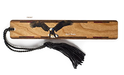 Bald Eagle - Bird - Wooden Hand Made Bookmark with Tassel