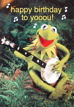 Muppets kermit the frog happy birthday greetings card mu34 muppets kermit the frog happy birthday greetings card mu34 m4hsunfo