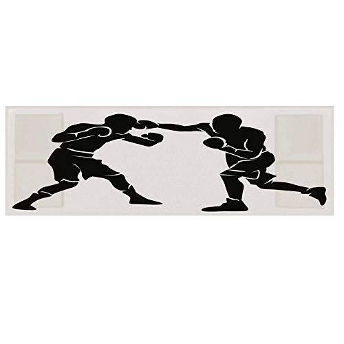 Sports Microwave Oven Cover with 2 Storage Bag,Black Silhouettes of Professional Boxers Fighters Combative Exercise Punch Attack Decorative Cover for Kitchen,36