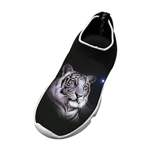 Tiger Face 3D Printing Children's Slip-on Flyknit Outdoor Sport Shoes