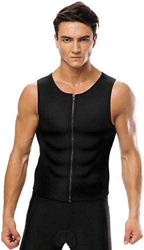 Waist Trainer for Men Vest Corset Combined with Abs Stimulator Helps to Healthy Weight Loss and Belly Fat Burning on Fitness Workouts or Daily Life and Slimming Tank Top Allows That BMI Goals 1