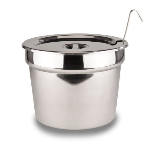 Stainless Steel Insert Pan With Lid For 11 qt Soup/Food Warmer 11-1/2' X 9' (ladle not included) Bottles-Up WO-INS-4.0