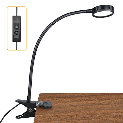 UPC 840404124274, New Version LEPOWER Clip On Light Reading Lights 3 Color Temperature Settings 2 Levels of Brightness (Black)