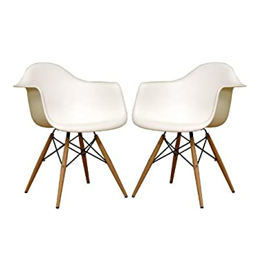 Pascal White Plastic Chair Qty 2