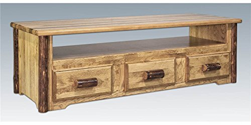 Montana Woodworks MWGCSCEC Glacier Country Sitting Chest/Entertainment Center