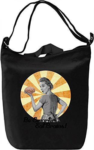 Eat brains Borsa Giornaliera Canvas Canvas Day Bag| 100% Premium Cotton Canvas| DTG Printing|