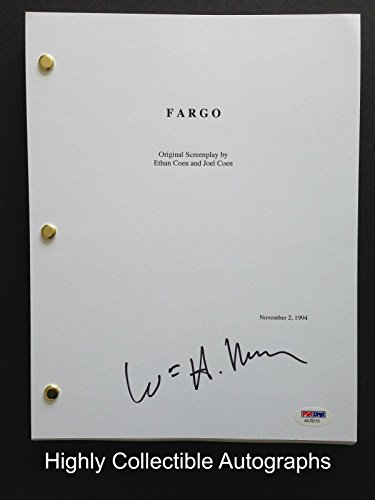 William H Macy Signed Full 91 Page Fargo Movie Script Psa Dna Coa Auto