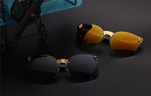 las gafas Retro de peso mujeres de metal de para gato ojo Moda lens gafas de gary gafas oro DESESHENME Mujer de Gafas de sol rojo oro Vintage sol borde de lentes oro Borde de ligero de dIH5xqIgaw