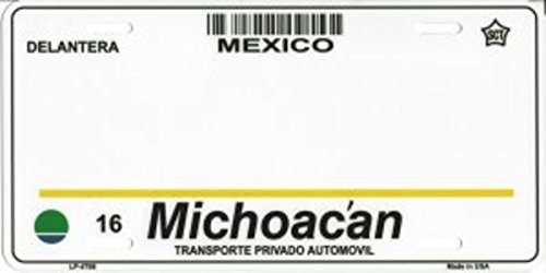 Smart Blonde Michoacan Mexico Look A Like Metal License Plate All wording is Free