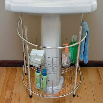 Under Sink Chrome Basin Rack by Kennedy Home Collections by KENNEDY HOME COLLECTIONS