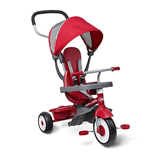 (Radio Flyer 4-in-1 Stroll 'N Trike, Red)