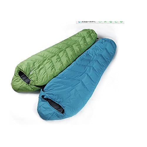 sacs de couchage Ultralight le camping sac de couchage camping en plein air adulte sac de couchage personne seule (peut être épissé) ( Couleur : Bleu , style : À gauche )