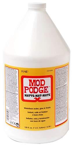 Mod Podge Waterbase Sealer, Glue and Finish (1-Gallon), CS11304 Matte (Best Plaid Hot Glue Guns)