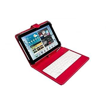 Silver HT - Funda Universal con Teclado Micro USB para Tablet de 9