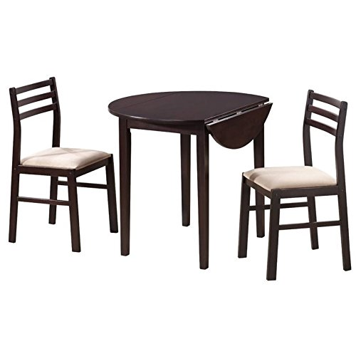 Sofa Piece 3 Leaf (Coaster 3 Piece Dining Set Cappuccino)