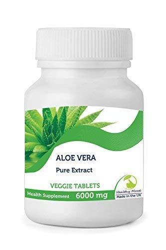 PURO ALOE VERA EXTRACTO 6000mg Vegetal Natural Salud Suplemento Alimenticio Vitaminas 30/60/90
