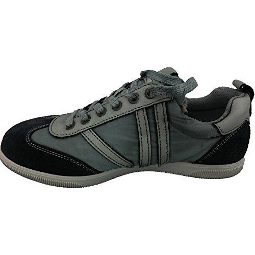 Calvin Klein Vaqueros de hombre 1208 - Zapatos de la zapatilla de deporte Umi Washed Nylon/Ante, S1639 NVY, Marino, Azul