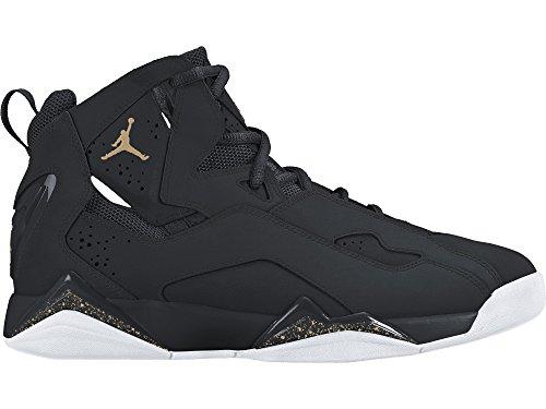 jordan-mens-jordan-true-flight-black-black-white-gold-size-95