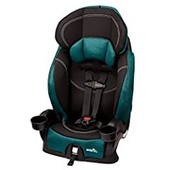 "The Evenflo Chase is a forward facing-harnessed car seat holding children from 22-40 pounds (height: 28-50"" ) that also can be converted to a belt-positioning booster for children from 40-110 pounds (height: 43-57"" ). In addition to 4 shoulde..."