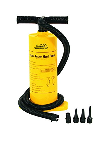 Texsport Double Action Hand Pump for Air Mattress (Renewed)