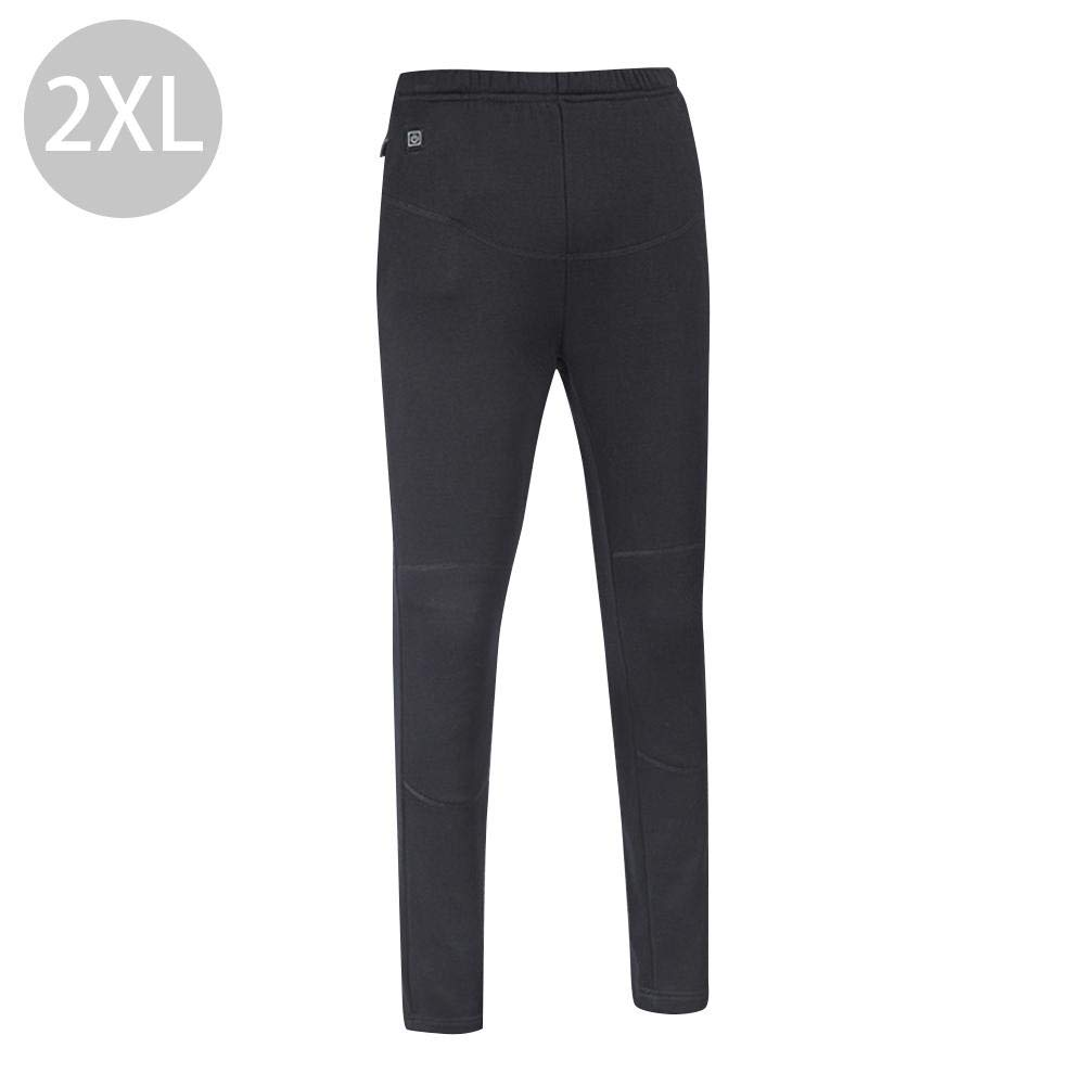 blue--net USB Smart Electric Heating Thermal Underwear Pants, Rechargeable Heating Long Johns Leggings Base Layer Bottoms Temperature Adjustable High Waist Down Pants