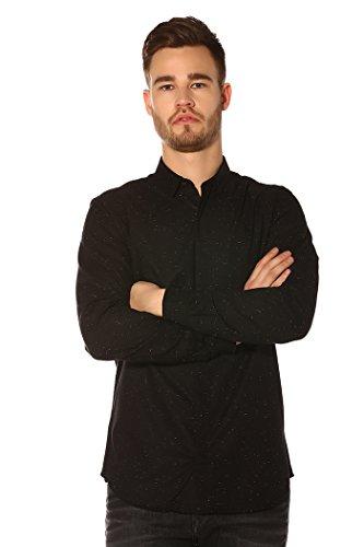 Jack and Jones Camisa slim fit Negra moteada L