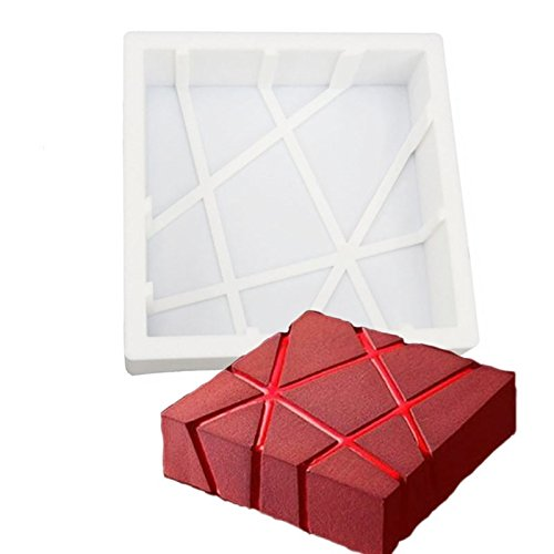 Cube Magma Shape Design Silicone Mousse Cake Mold Silicone Flexible for Bread Chiffon Muffin Angel Food Mousse Dessert Cake Pastry Brownies Baked