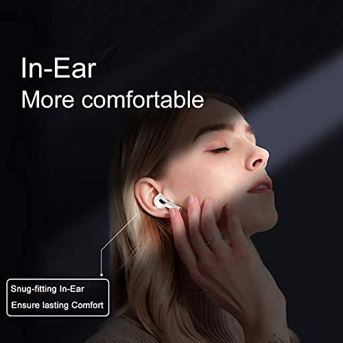 Wireless Earbuds Bluetooth 5.0 Earbuds Bluetooth Wireless Headphones inalambrico 24H Playtime with Charging Case Hi-Fi Stereo Earbuds with Built-in Mic for iPhone/Android in Ear Earbuds