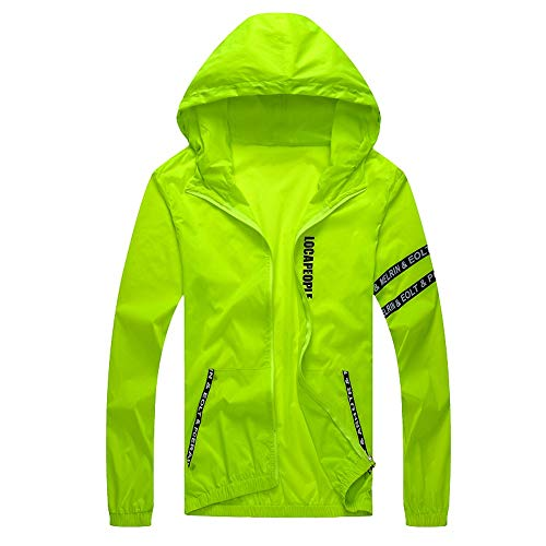 Tomatoa Men Casual Jackets, Mens Casual Jacket Outdoor Sportswear Windbreaker Lightweight Bomber Jackets Green