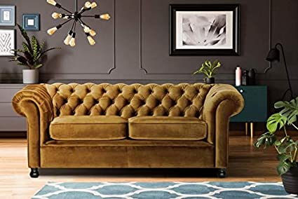 Prime Lillyput Interio Zia 3 Seater Velvet Sofa Set Yellow Home Remodeling Inspirations Cosmcuboardxyz