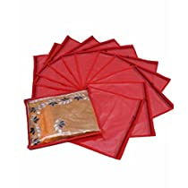 Kuber Industries 12 Pieces Non Woven Packing Saree Cover Set