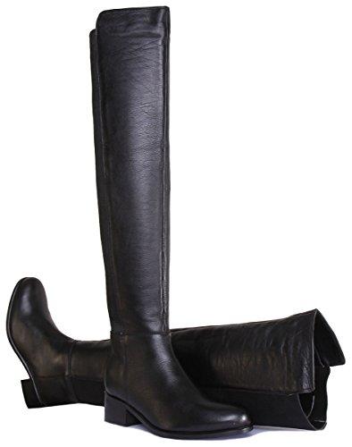 Da Opaco Derby Nero Nero Equitazione Justin Cuoio Reece Donne Stivali FqvvBY