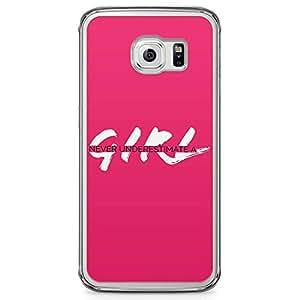 Samsung Galaxy S6 Edge Transparent Edge Phone Case Girl Phone Case Motivation Phone Case Pink Samsung Galaxy S6 Edge Cover with Transparent Edge