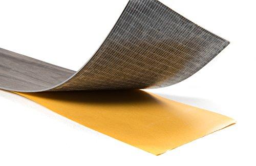 "Nance Industries Versaplank Peel and Stick Stain Proof Vinyl Plank Flooring, 6""x48""x2.5mm, Assorted Colors, 10 Planks"