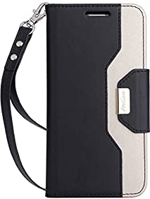 LG G6 Wallet Case, ProCase Folio Fold Card Case with Credit Card Slots Wristlet Flip Cover Kickstand Case for LG G6 2017 -Black