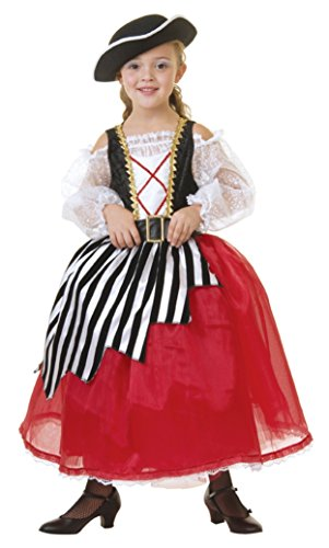 Child X-Small 2-3 - Pirate Girl Costume Gown (Hat, stockings & shoes not included) (Renaissance Skirt & Hat)