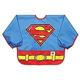 Bumkins DC Comics Waterproof Costume Sleeved Bib, Superman (6-24 Months)