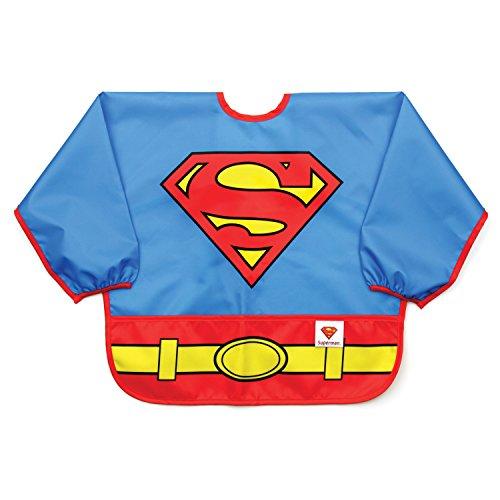Bumkins DC Comics Waterproof Costume Sleeved Bib, Superman (6-24 Months) - Custom Made Superman Costumes